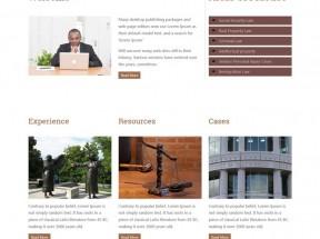 简洁的律师事务所网站静态页面模板html下载
