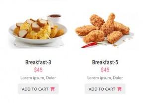 餐饮美食订餐手机网站模板