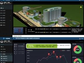 黑色的城市能源调配控制系统后台管理模板
