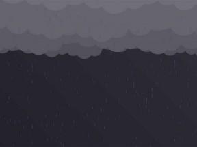 html5 svg乌云密布下雨天动画场景特效