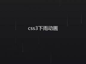 jQuery css3滑落下雨动画特效