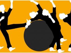 html5 canvas铁球碰撞人体动画特效