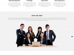 国外简约的商务合作企业静态模板html下载