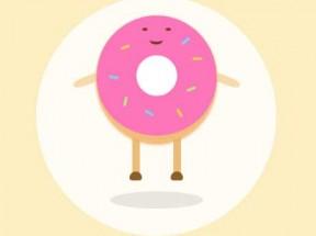 css3可爱的甜甜圈动画
