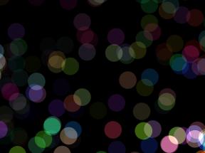 html5 canvas彩色圆球光标动画特效