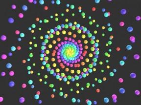 html5 canvas弹性轨道球动画特效