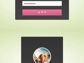 html5 css3用户登录表单动画演示特效