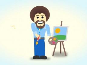 纯css3可爱的绘画家动画特效