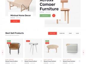 时尚多用途的家具电商HTML5模板