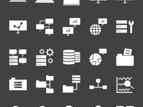 互联网云服务图标PNG素材集