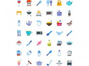 卡通的厨房电器用品png图标集