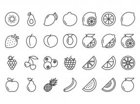 各种各样的水果图标集素材