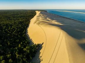 绿色森林 沙丘 大海4k风景壁纸3840x2160