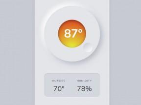 恒温器温度设置ui交互特效