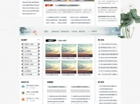 古典型的IT技术博客网站模板