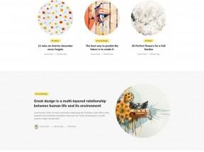 简洁的个人图文博客HTML模板