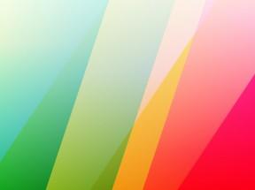 粉绿色和黄色条纹插图4k壁纸