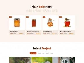 有机蜂蜜店铺销售HTML5模板