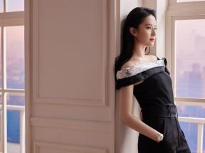 清纯美女刘亦菲 黑色连体裤 居家摄影4k美女壁纸