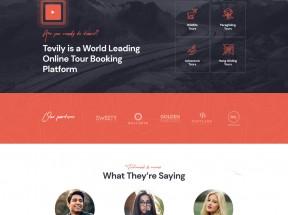 响应式的旅游团报名服务网站模板