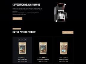咖啡奶茶店铺HTML5电商模板