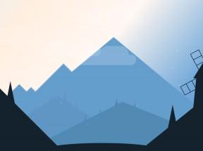 夜晚山里的大风车动画场景特效