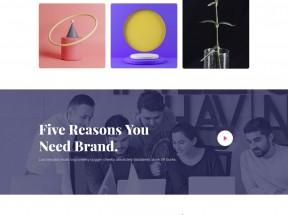创意的广告设计公司HTML5模板