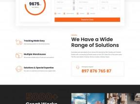 大气物流和运输企业官网HTML5模板