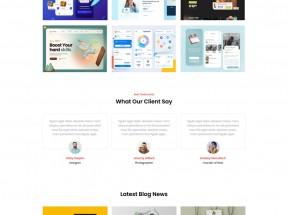 web设计师博客网页模板